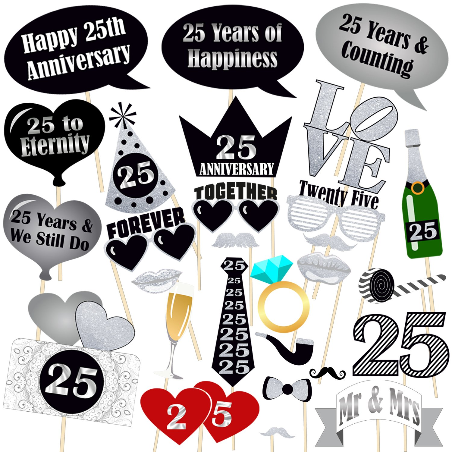 25Th Wedding Anniversary Decoration Ideas At Home from images-na.ssl-images-amazon.com