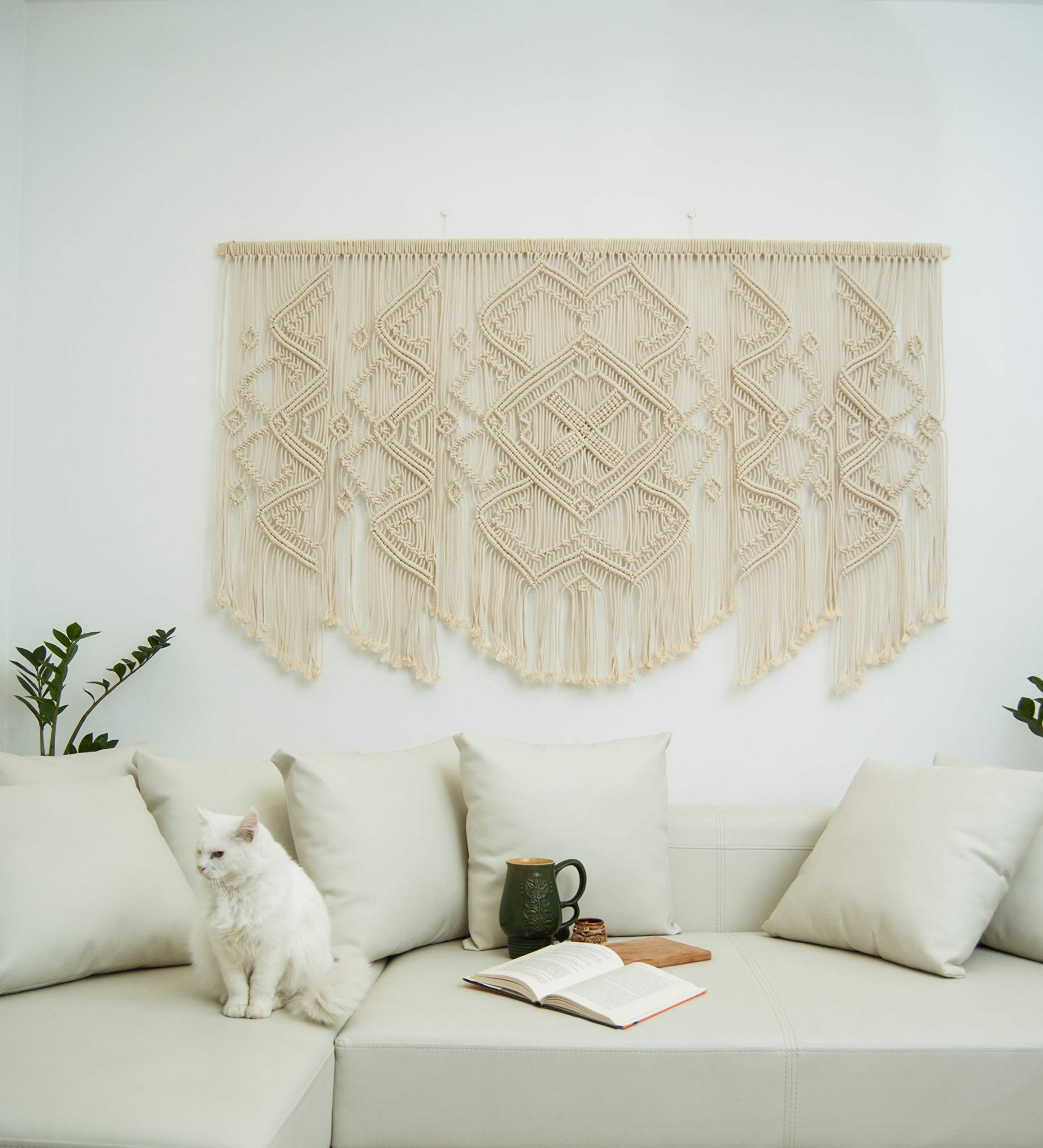 Macrame wall hanging large – Wall hangings, Boho wall decor, Tapestry for wall - Living room decorations by The Woven Dream Factory