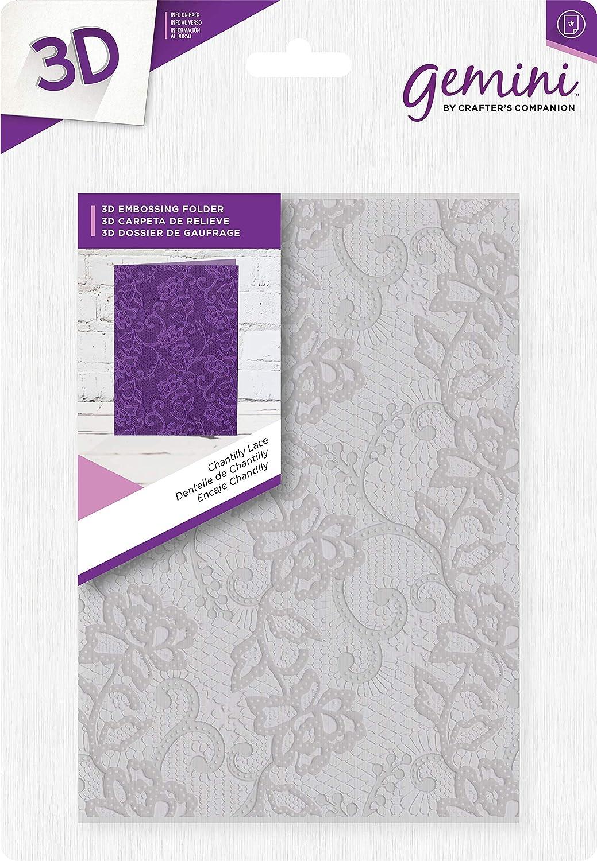 Gemini 3D Embossing Folder-Chantilly Lace, 5' x 7' 5 x 7 Crafter' s Companion GEM-EF5-3D-CL