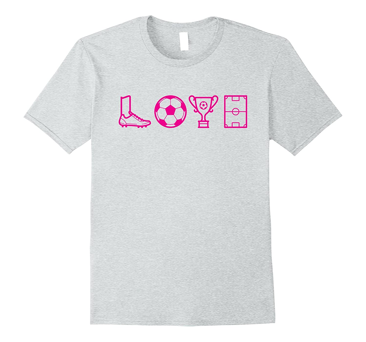 67dd12338 Love – Soccer T-shirts for Girls – Soccer Gifts-CL – Colamaga
