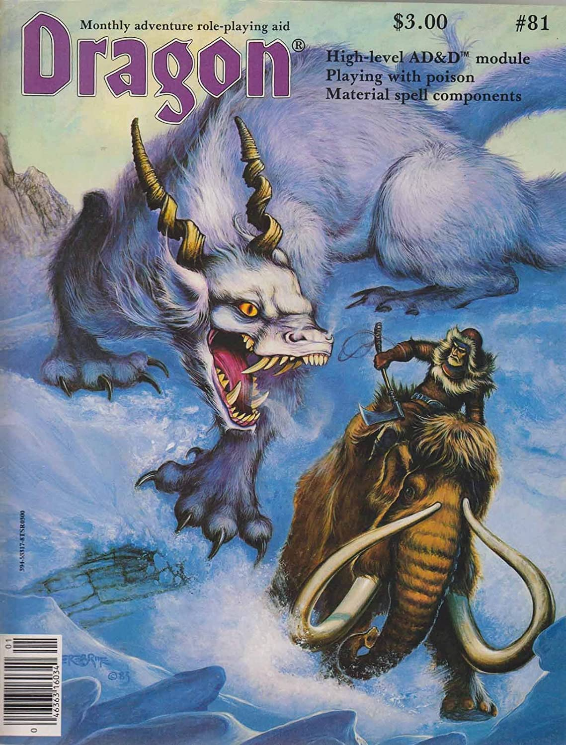 Dragon Magazine #81 (January 1984) front cover