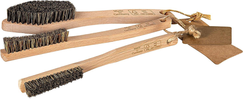 Mantle - Cepillo de escalada (madera, para mangos pequeños y listones, set de 1 y 2 unidades)