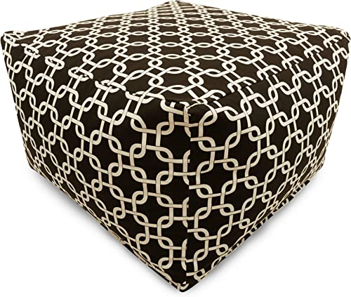 Majestic Home Goods Black Links Ottoman