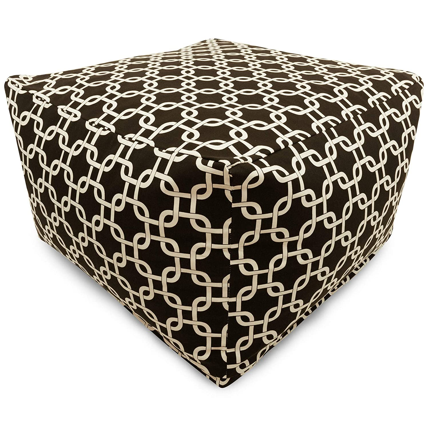 Majestic Home Goods Black Links Ottoman, Large