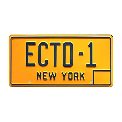Celebrity Machines Ghostbusters | ECTO-1 | Metal Stamped License Plate: Automotive