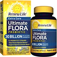 Renew Life - Ultimate Flora Probiotic Extra Care - 30 billion - 30 vegetable capsules (Packaging May Vary)