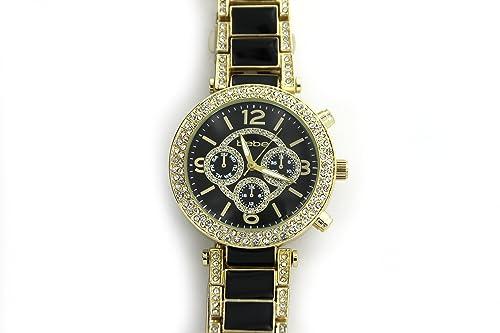 Amazon.com: Bebe Mujer Reloj acero inoxidable de oro/negro ...