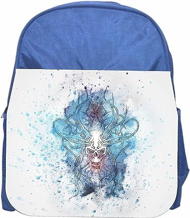 Skull Blue Girls//Boys Preschool Toddler Backpack /& Lunch Box Set