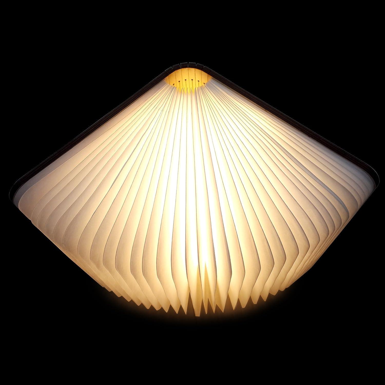 led buch lampe in buch form holzbuch mit 2500 mah akku lithium nachttischlampe nachtlicht. Black Bedroom Furniture Sets. Home Design Ideas