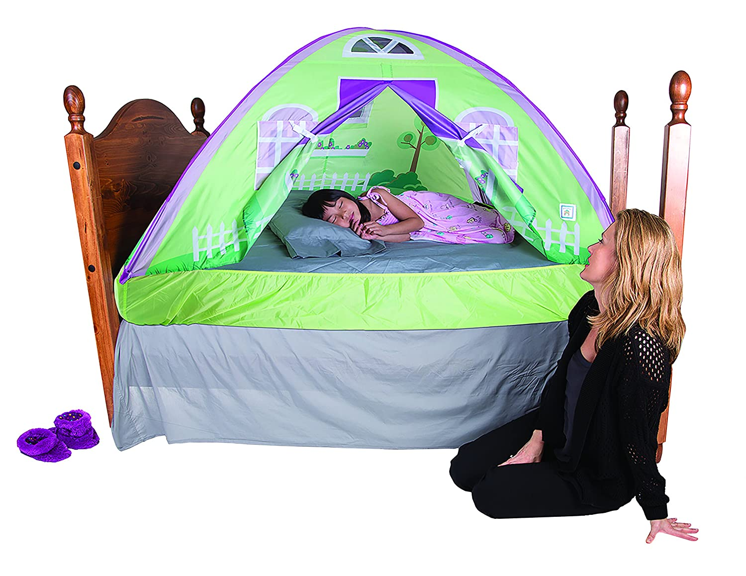 Amazon.com Pacific Play Tents Kids Cottage Bed Tent Playhouse Twin Size Toys  sc 1 st  Home Design Ideas & Kids Bedroom Tent - Home Design Ideas and Pictures