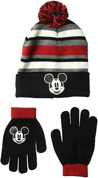 Image Unavailable. Image not available for. Color  Disney Classics Boy s  Little Mickey Mouse Winter Beanie   Glove Set e747e27d7927