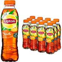 Lipton Peach Ice Tea een heerlijk verfrissende ijsthee - 12 flessen - 500ML - Voordeelverpakking