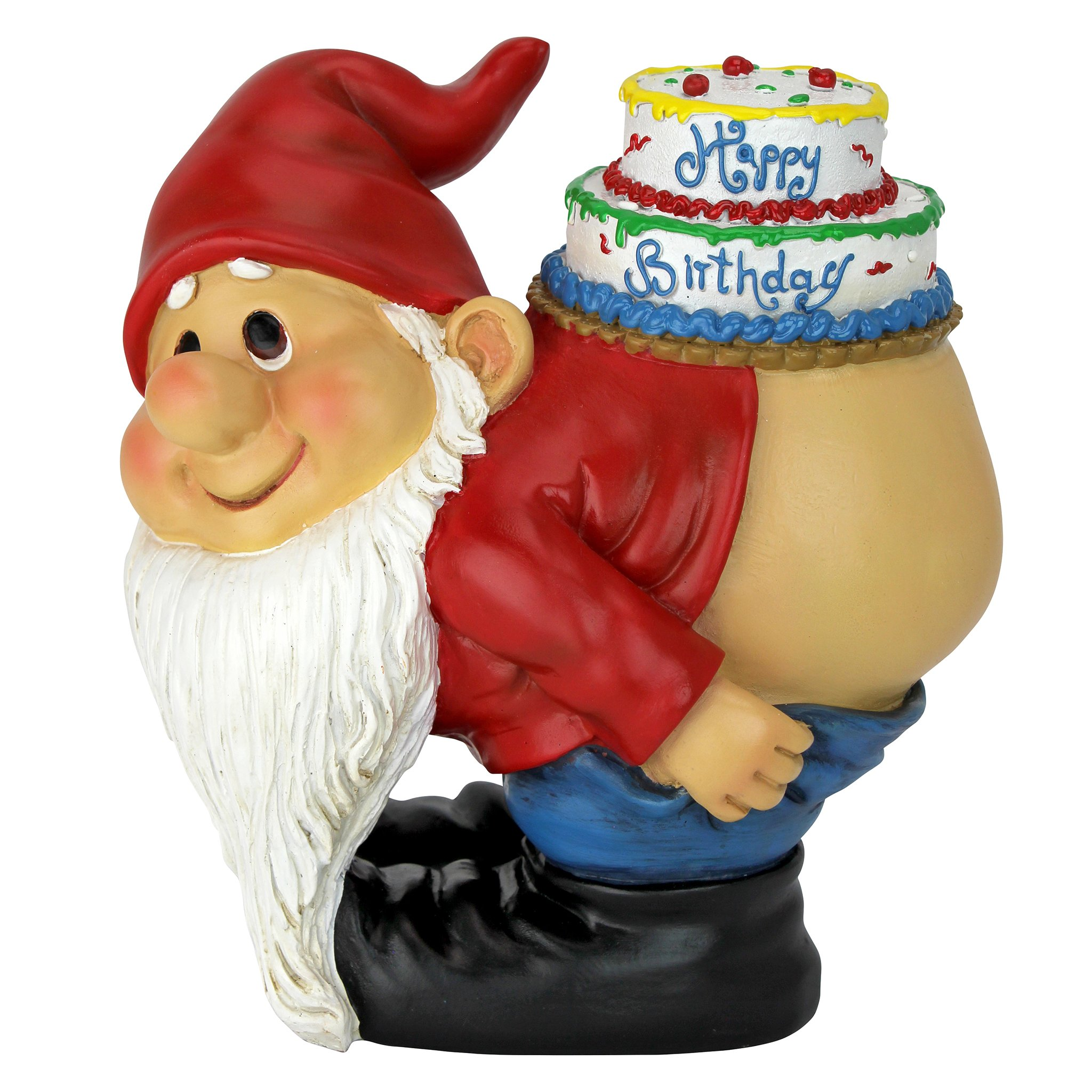Design Toscano QM17044 Birthday Decorations Garden Gnome Statue Loonie Naughty Gnomes product image