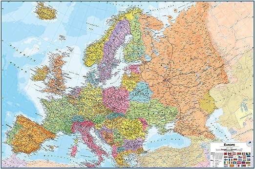 Wallpops Fine Décor borrado en seco Mapa de Europa: Amazon.es ...