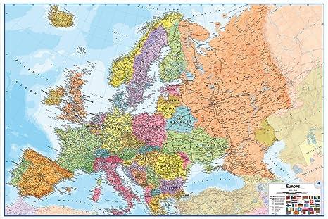 Wallpops WPE0901 Dry Erase Europe Map - Multi-colour: Amazon.co.uk ...