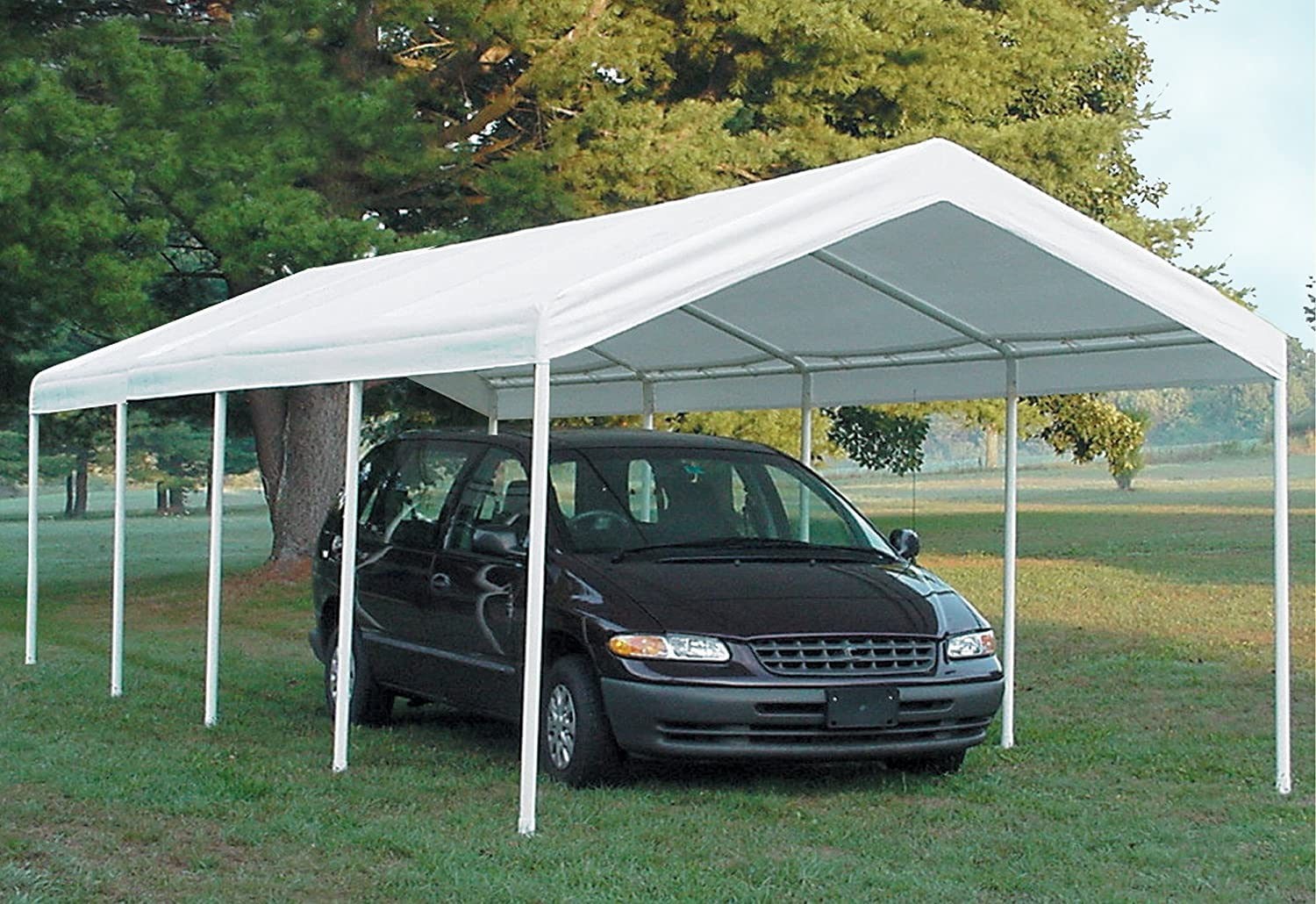Amazon.com  ShelterLogic SuperMax Canopy White 10 x 20 ft.  Sports u0026 Outdoors : zhengte car canopy - memphite.com