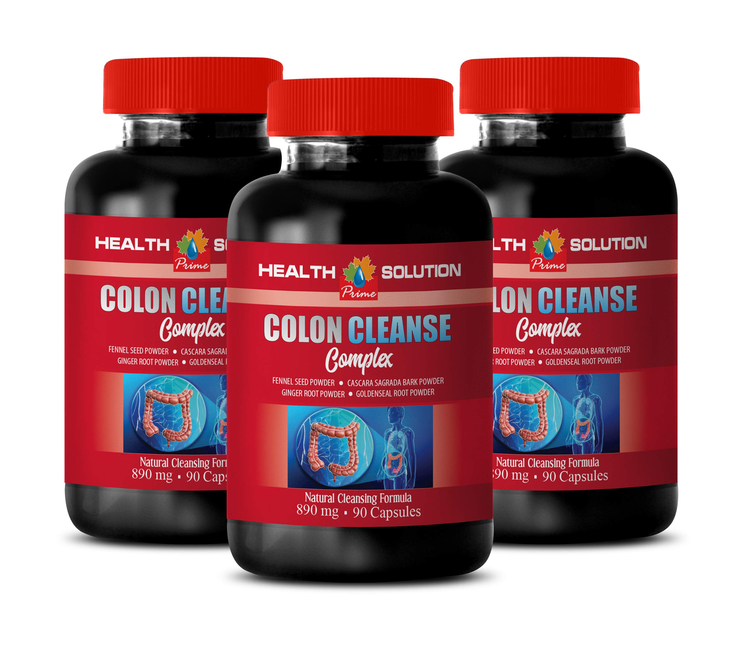 Colon Cleanse Best Seller - Colon Cleanse Complex - Licorice Root Pills - 3 Bottles 270 Capsules