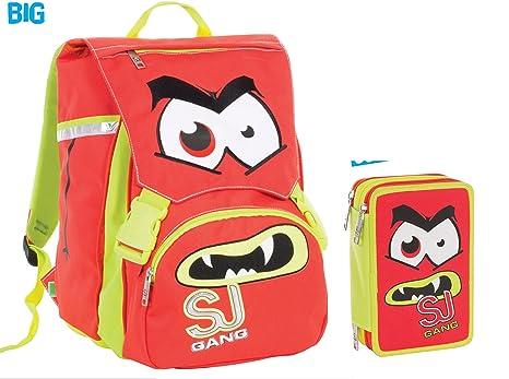 488dd7acc8 Zaino School Pack Arancio Facce da SJ Seven: Amazon.it: Cancelleria ...