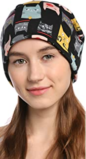 1a8d2abb4ea Ababalaya Women s Soft 3-Way Winter Warm Totoro Knitted Slouchy Chemo Beanie  Skull Cap