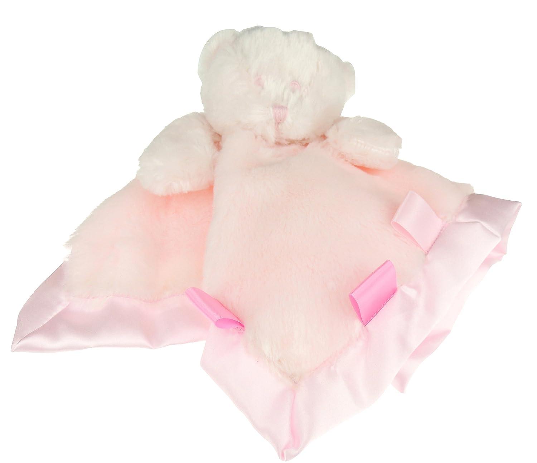 Baby Girls Boys Super Soft Plush Comforter Security Toy Large Bear (Blue) Glamour Girlz