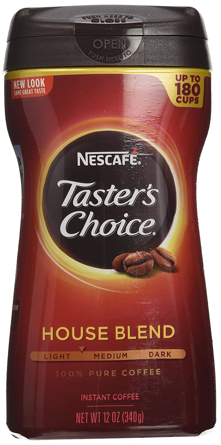 Amazon.com : Nescafe Taster's Choice Instant Coffee, Regular, 12 Ounce (Pack of 3) : Grocery & Gourmet Food