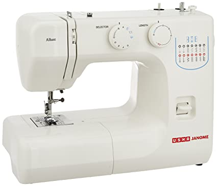 Usha janome allure automatic zig zag electric sewing machine white usha janome allure automatic zig zag electric sewing machine white fandeluxe Image collections