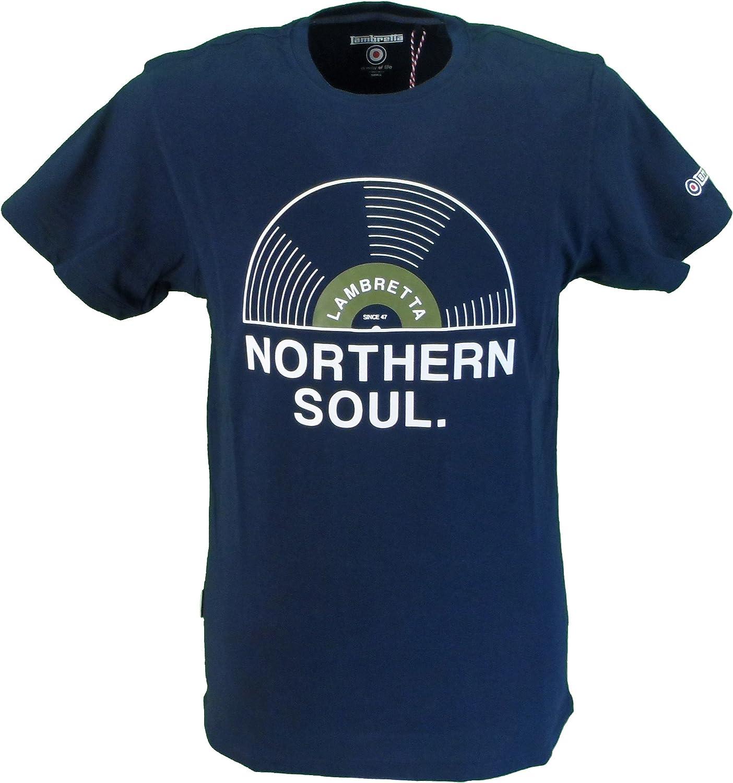 Lambretta Burgundy Northern Soul Retro T Shirt …