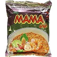 Mama Instant Ramen Noodle, Tom Yum Shrimp Flavour (Pack of 5), Mix Color