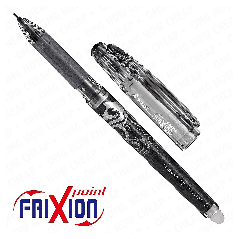 Tintenroller, Frixion Point, sehr fein, radierbar, Schwarz, 12 Stück