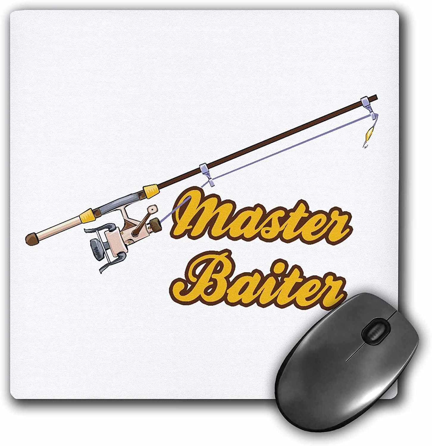 Master Baiter Fishing Pole Funny Fishing Humor Sports Design Mouse Pad 8 By 8 Inches Mp 116326 1 Office Products Amazon Com