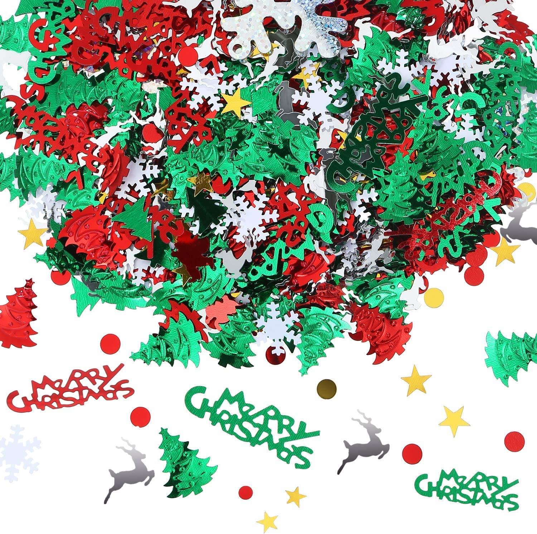 Details about  /Home Decor Xmas Snowflake Festival Ornament Christmas Confetti Tinfoil Sequins