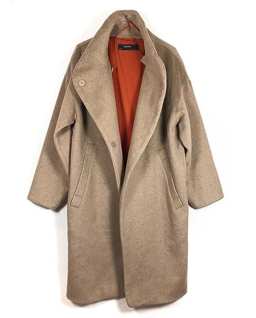 09d04d27b4 Zara Women Long coat with wraparound collar 8073/234 (X-Small ...