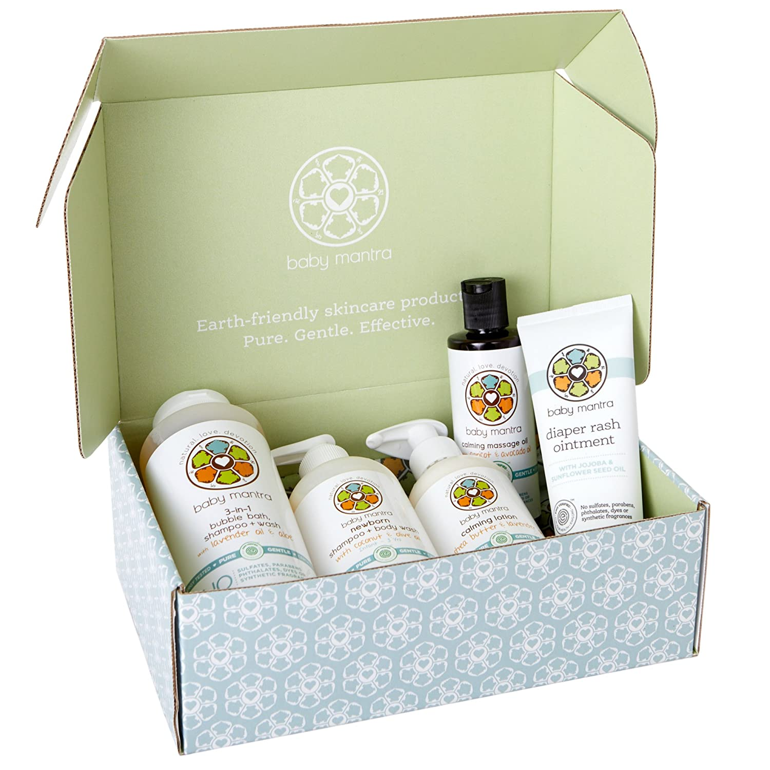 Baby Mantra Complete Newborn Gift Set, EWG Verified, Natural and Hypoallergenic Bath & Skin Care Products for Babies & Kids, Perfect for Baby Shower (Bundle of Joy Gift Set)