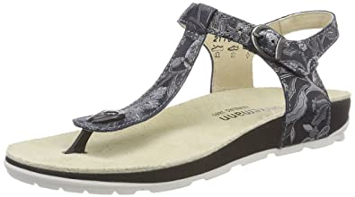 Berkemann Women's Kilia Flip Flops, (Schwarz/Silber 952)
