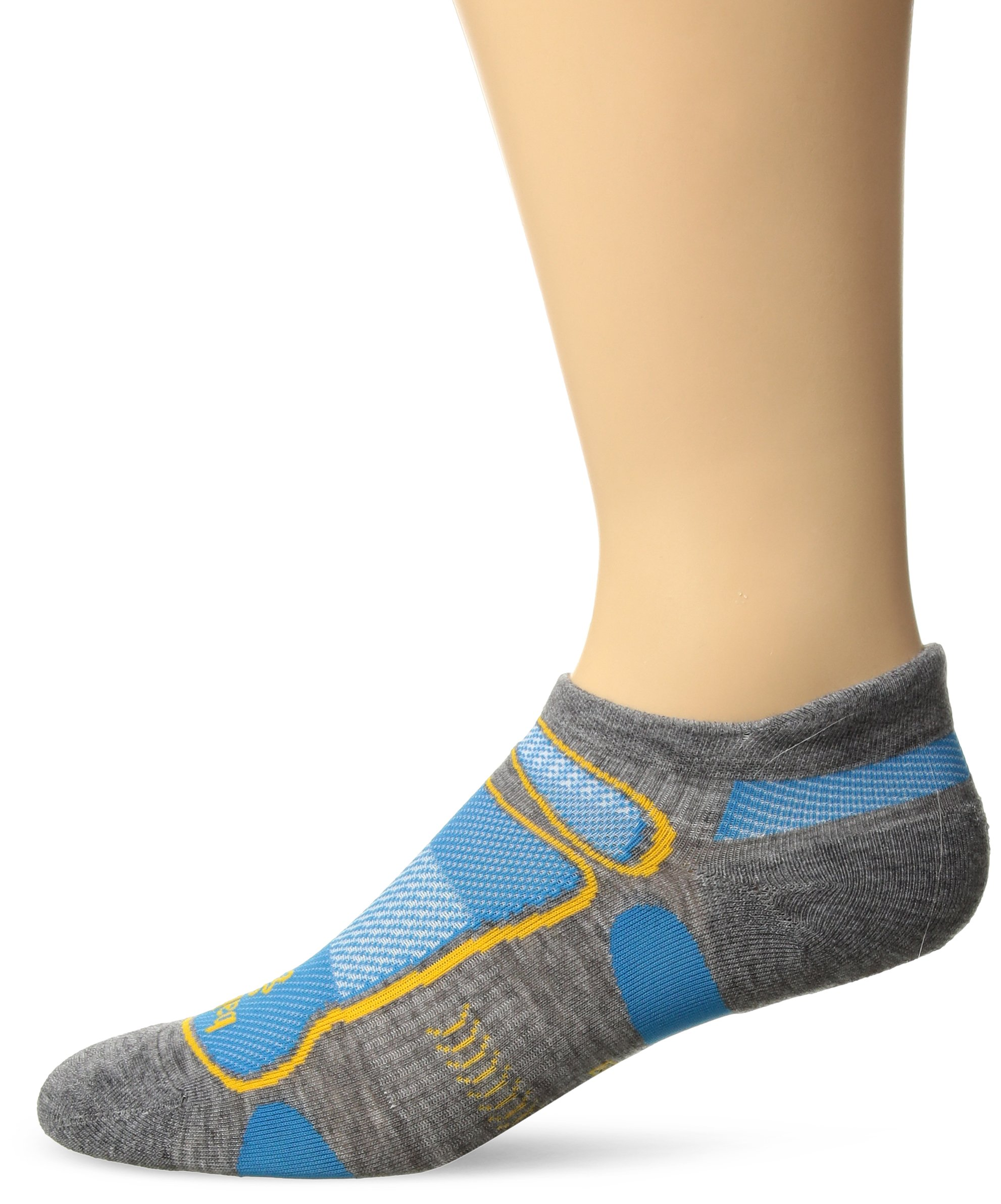 Balega Ultralight No Show Athletic Running Socks for Men and Women (1 Pair), Midgrey, Small