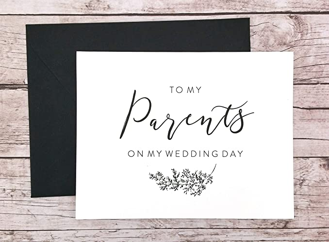 Amazon Com To My Parents On My Wedding Day Card Thank You Card For