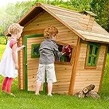 Cabane enfant ALICE en cèdre vernis naturel