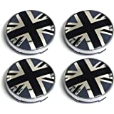 PT-Decors Black Anti-War Peace Symbol Signs Wheel Center Hub Caps Emblem 56.5mm Size 3D Domed Sticker Aluminum Graphic Decals Badge For Vehicle Motor Auto Car Wheel Center Hub Caps