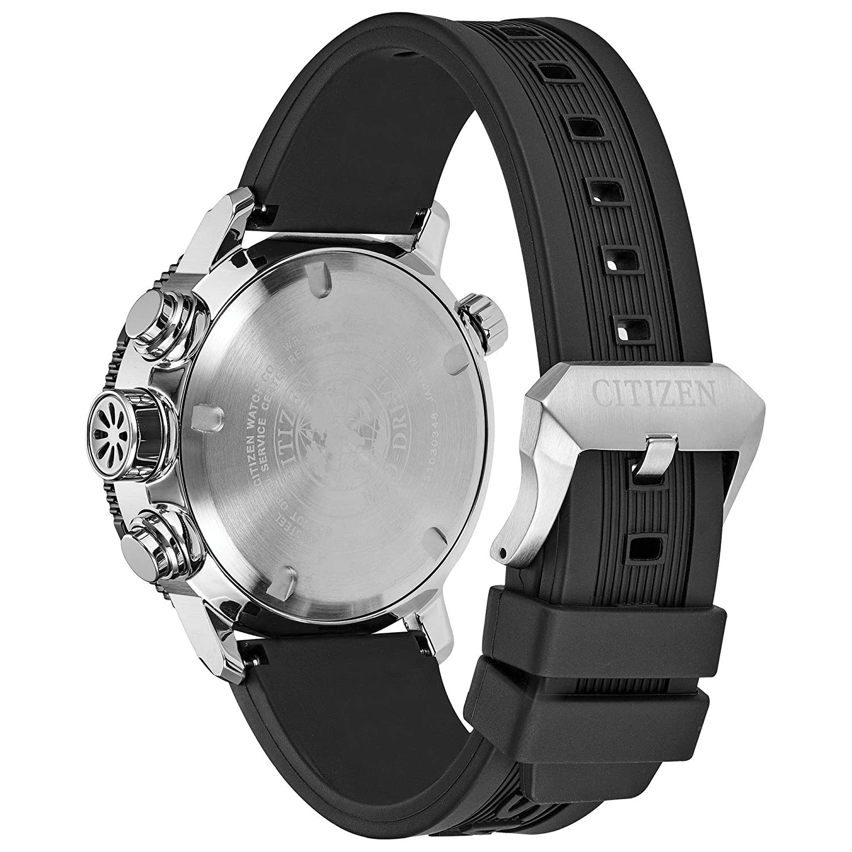 612a423f607 Amazon.com  Men s Citizen Eco-Drive Promaster Altichron Black Polyurethane  Strap and Black Dial Watch BN5058-07E  Watches