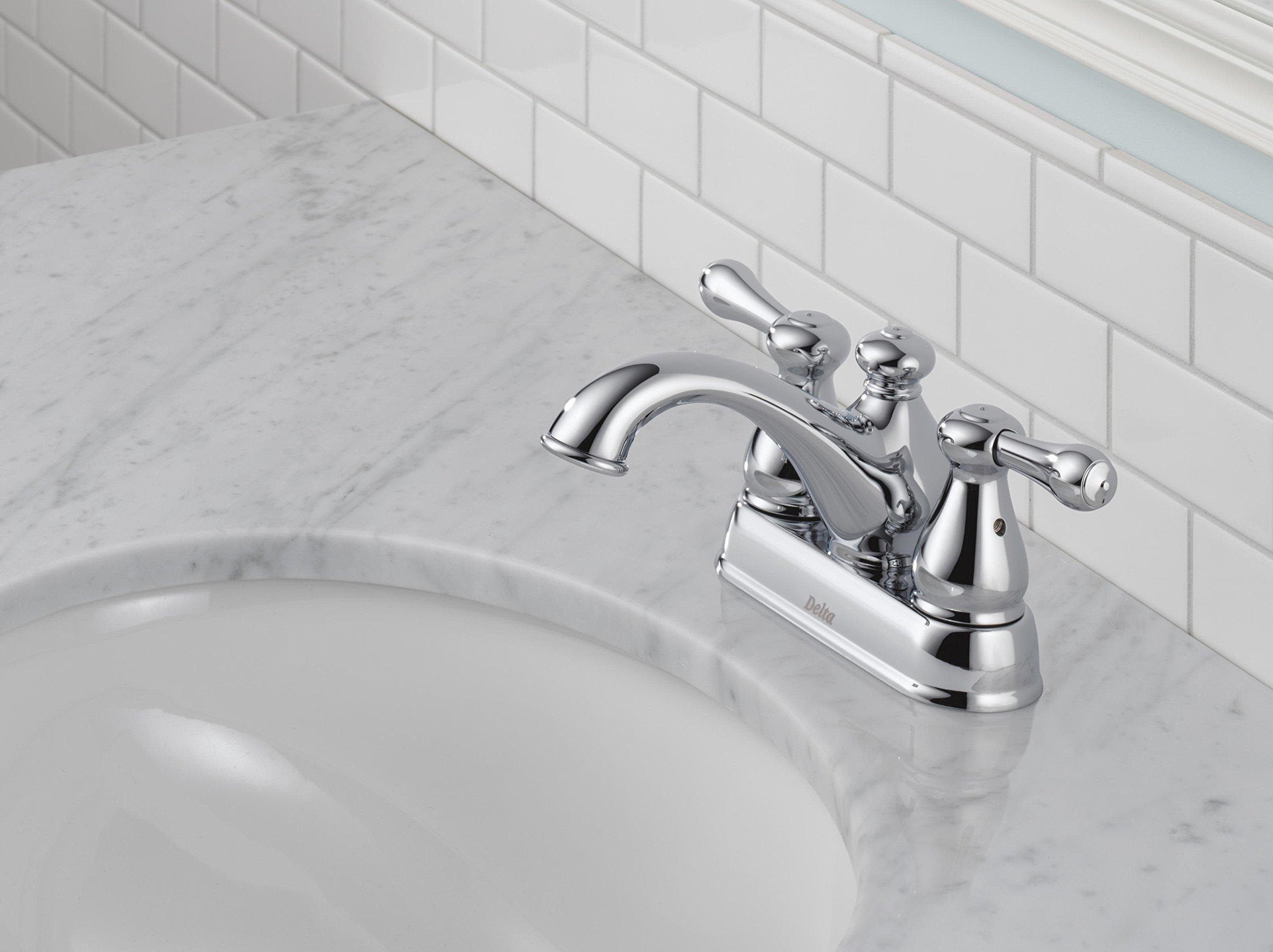 Delta 2578LF-278 Leland Two Handle Centerset Bathroom Faucet, Chrome