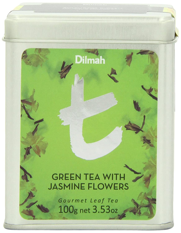 Amazon dilmah t series green loose leaf tea with jasmine amazon dilmah t series green loose leaf tea with jasmine flowers 35 ounce tin grocery gourmet food izmirmasajfo