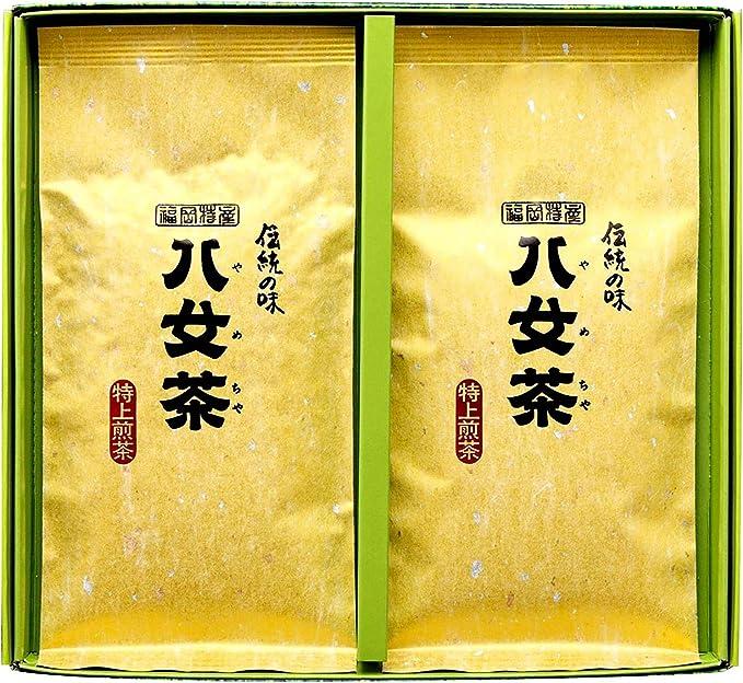 岩﨑園製茶 新茶 2020年産 福岡県産 八女茶 特上煎茶 100g × 2袋 ギフト セット (お中元)