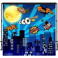 musykrafties Super Hero City telón de fondo Banner escena Setters 2.1x 2.1m