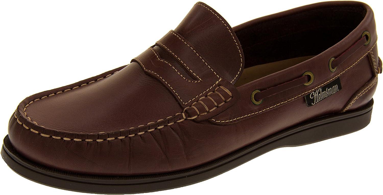 TALLA 43 EU. Helmsman 72015 Hombre Cuero Zapatos de la Cubierta Mocasines