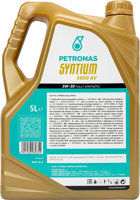 Petronas 18135019 Engine Oil Syntium 5000av 5w30 5 Lt Auto