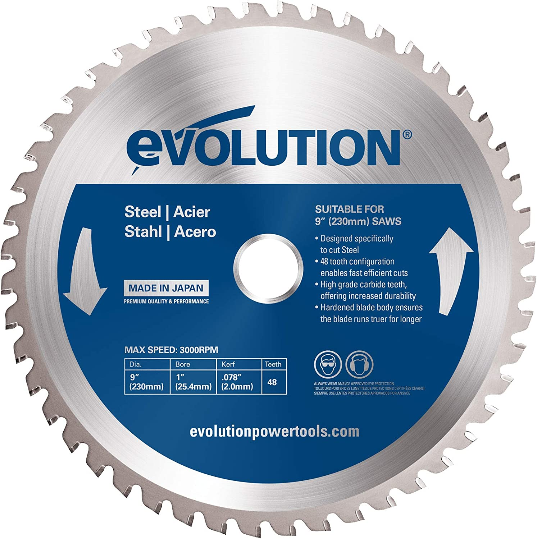"EVOLUTION TCT 9/"" WOOD-CUTTING SAW BLADE  230BLADEWD"