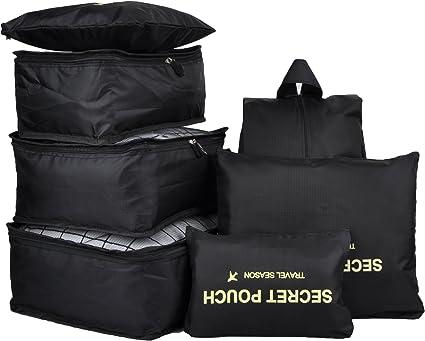 Amazon.com: Juego de 7 compartimentos para empacar de manera ...