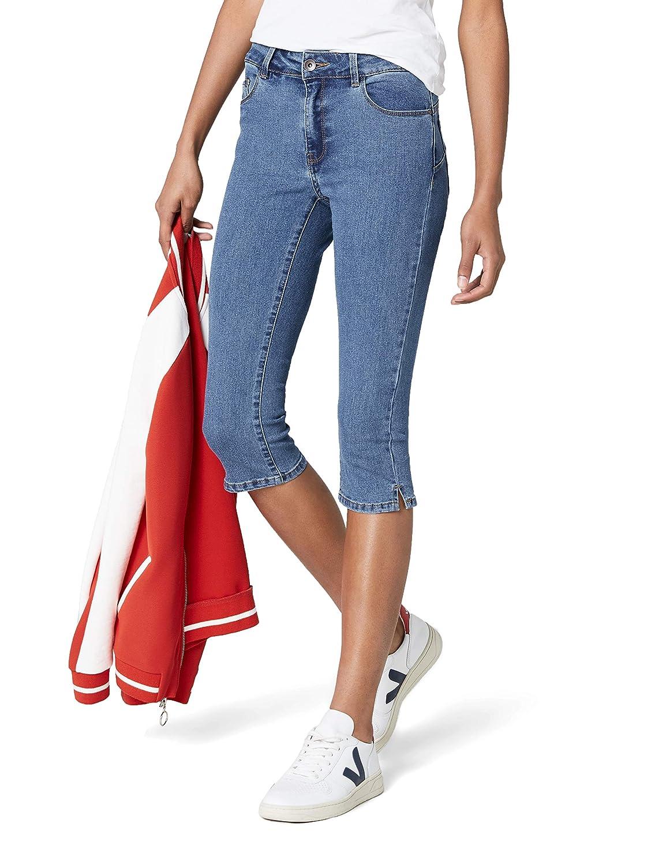 TALLA 38 (Talla del fabricante: Small). Vero Moda NOS Vmhot Seven NW Dnm Slit Knicker Mix Noos, Pantalones para Mujer