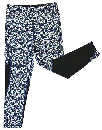 c0d4e8da9165ee Image Unavailable. Image not available for. Color: Victoria's Secret VSX  Knockout Capri Yoga Pants X-Small Glow in Dark Blue Geo