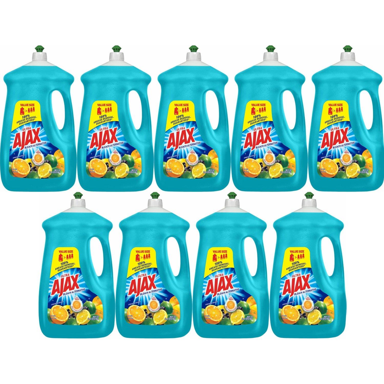 Ajax Ultra Triple Action Liquid Dish Soap, Bleach Alternative Citrus Berry Splash - 90 fl oz, 9-Pack